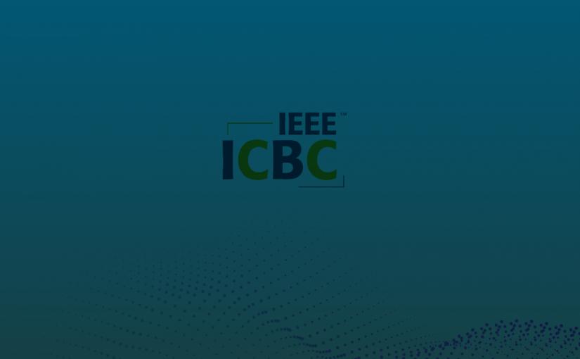 Debasish's paper got accepted at ICBC 2019.